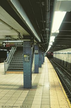 Subway NYC- Not my favorite mode of transportation while in NYC