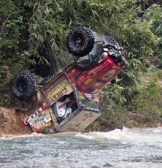 This is going to be a bad day. Snorkels don't work upside down... A Lot of money is about to be wasted on a serious motor rebuild. Not to mention that the driver is going to be belted in...upside down...in the water. Not Good.