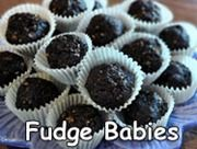 """Fudge Babies... Once I clicked through I realized these are the """"brownie balls"""" we have been making for years.  They are delcious and so easy to make.  We usually add some shredded coconut to the mix and store them in the freezer.  Kids love them and I love that they are a healthy treat!"""