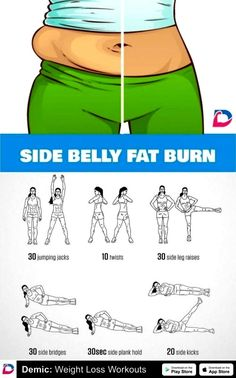 Fitness Workouts, Abs Workout Routines, Gym Workout Tips, Fitness Workout For Women, Body Fitness, Easy Workouts, Side Workouts, Workout Challenge, Side Fat Workout