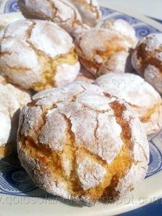 Galletas craqueladas de almendra, receta casera