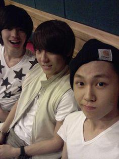 IlHoon, SungJae et MinHyuk ~ Pendant que nous enregistrons une chanson~~!!^^