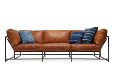 Cognac Leather Sofa – Stephen Kenn