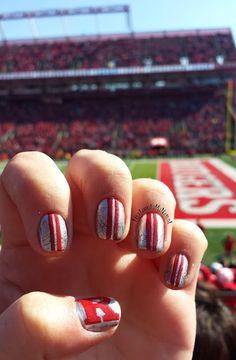 @Rutgers University Football Nail Art - Hey Look At My Nails!