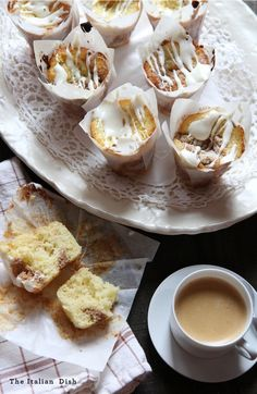 Coffee Cake Muffins makes 10 large muffins  Ingredients:  for the muffins:  12 tablespoons unsalted butter, at room temperature  1½ cups granulated sugar 3 large eggs 1½ teaspoons pure vanilla extract 1¼ cups plain Greek yogurt  2½ cups cake flour 2 teaspoons baking powder ½ teaspoon baking soda ½ teaspoon salt