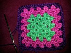 Purple pink n green square