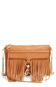 The boho fringe on this weekend-ready Rebecca Minkoff bag adds flirty movement with every step.