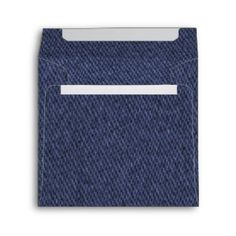 Blue Denim Envelopes