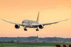 https://flic.kr/p/ohasm6 | Qatar Airways/B787-8 Dreamliner/A7-BCA/02-08-14/EBBR