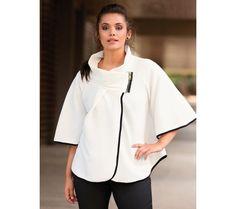 Plášť s kontrastní lemovkou | modino.cz #ModinoCZ #modino_cz #modino_style #style #fashion #cloak #bellisima