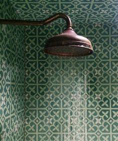 Green boho tile