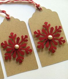 Christmas Gift Tags Holiday Gift Tags Snowflake by TerrysCards, $4.25