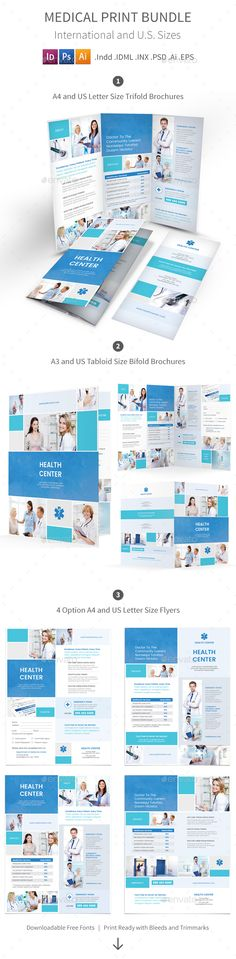 Medical Center Brochure Design   Drug Test, Alcoholic, Clinic