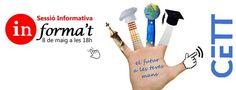 Voleu estudiar al #CETT? Apunteu-vos a la #sessióinformativacett d'aquest dijous! http://www.cett.es/formulari-sessio-informativa-maig