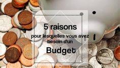 5 raisons pourquoi vous avez BESOIN d'un budget Mon Budget, Faire Son Budget, Budgeting, Important, Unique, Books, Money Saving Tips, Earn More Money, Livros