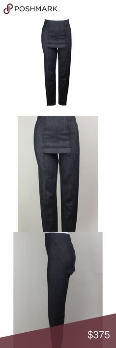 Martin Margiela archive skirt pant size 40 One of a kind dark rinse original Martin Margiela archive skirt pant. Incredible find. Size 40, dark denim. Maison Margiela from the 1990's, once it's sold it's gone! No returns. Maison Martin Margiela Jeans