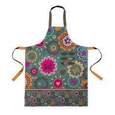 funky folk flora apron