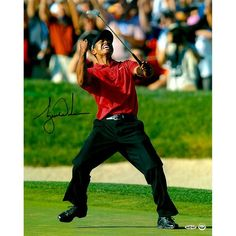 "Tiger Woods Upper Deck Autographed 16"" x 20"" 2008 US Open Celebration Photograph - Upper Deck - $1099.99"