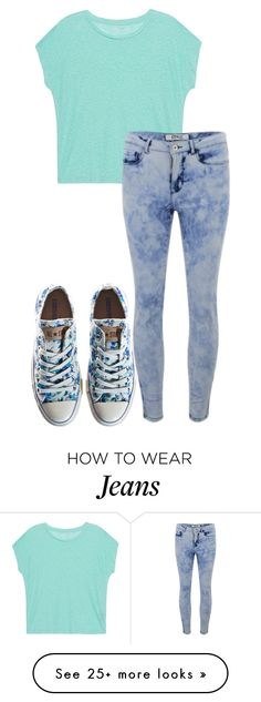 """""""acid wash jeans ."""" by qveenkyndall16 on Polyvore featuring Converse, Majestic Filatures and ONLY"""