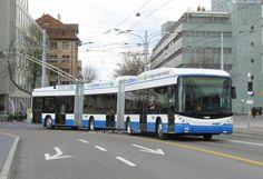 Verkehrsbetriebe Zürich: 19.03.08 - Bi-articulated trolleybus Hess LighTram