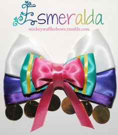 This person make hair bows that resemble many Disney characters!  Too cute!  Wish I had thought of that.