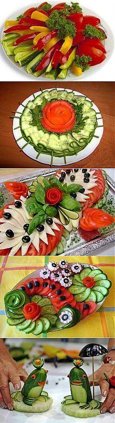 Оформление овощных закусок. Так просто и красиво!