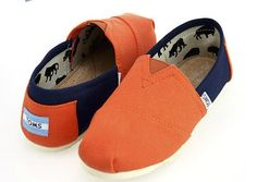 Blue yellow women's toms shoes