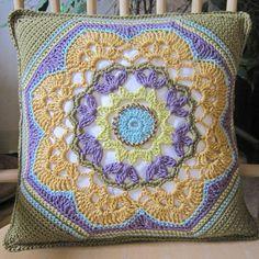 JANIE CROW Fairisle crochet. LOVE the color combo. Inspiration pin.
