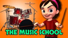 Welcome to the Music School! 3D Kids Learning Videos We Will Rock You So...