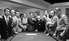 Few of the Ocean Eleven cast which included Sammy Davis Jr. Dean Martin, Frank Sinatra, Peter Lawford, Joey Bishop, Cesar Romero, Richard Conte, Akim Tamiroff, Henry Silva, Ilka Chase, Norman Fell, Harry Wilson Buddy Lester, Red Skelton, and George Raft. Not forgetting Angie Dickinson and Shirley MacLaine.