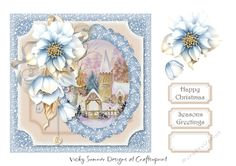 Blue Floral 4 by Vicky Sumner 7x7 card topperJPG 150 dpiWill resize wellPUCU allowed for hand finished items