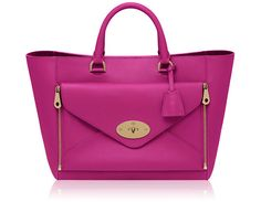 Mulberry - Willow Tote in Mulberry Pink Silky Classic Calf With Soft Gold 2014 Brown Leather Handbags, Leather Purses, Mulberry Bag, Fairytale Fashion, Classic Leather, Smooth Leather, Calf Leather, Leather Bag, Calves