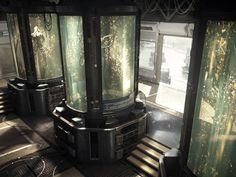 Resultado de imagem para futuristic laboratory concept art
