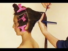 Hair tutorial: transforming long hair in a sexy inverted bob - YouTube