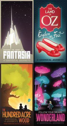 Whimsical Journeys Poster by Mr-Bluebird