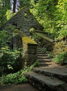 The Stone House in Forest Park, Portland, USA