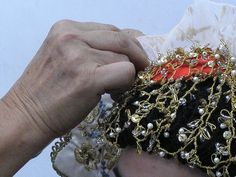 Gold Embroidery, White Satin, The Crown, Braids, Tulle, Brooch, Costumes, Greeks, Islands