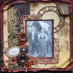 My next project.to scrapbook the family tree and add stories to keep their memories alive for all the upcoming generations! Heritage Scrapbook Pages, Vintage Scrapbook, Scrapbook Page Layouts, Scrapbook Cards, Scrapbook Photos, Shabby, Album Photo, Mail Art, Digital Scrapbooking