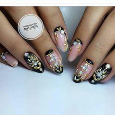 Fall Manicure Designs Polka Dots 46 Ideas For 2019 Glitter French Manicure, Black Manicure, French Manicures, Metallic Nails, Fail Nails, Fall Manicure, Polka Dot Nails, Polka Dots, Latest Nail Art