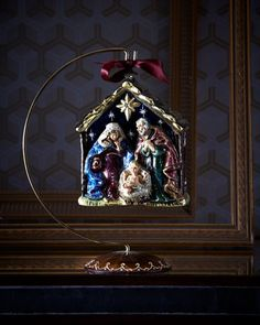 Holy Family Christmas Ornament by Jay Strongwater at Neiman Marcus.