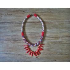 Make a fashion statement with this neo tribal rope necklace.