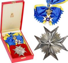 SWEDEN - Order of the North Star , Grand Cross Set.