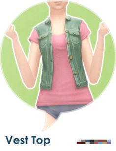 "Another one in ""things my farmers should have"" series:  ◦ Teen to elder female.  ◦ 8 colors.  ◦ Feminine fashion style.  ◦ Top/vest category.  ◦ Basegame compatible.  ◦ Get the PSD here for recolors.  Download @ MediaFire  Download @ SimFileShare"