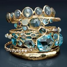 turquoise and gold by cherry