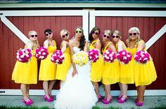 yellow & pink wedding :]