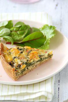 Quiche de espinacas y queso Chaumes  foodandcook.net