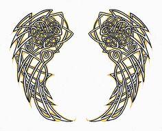 Celtic angel wings by CherryBlossomLeda by tattoo.artgallery, via Flickr