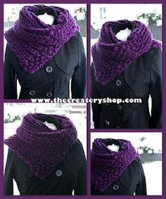 Repeat Crafter Me Hooded Crochet Cowl With Lion Brand Thick Quick Yarn Scarfie My Style