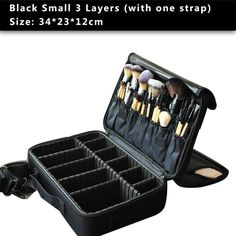 High Quality Professional Makeup Organizer Cosmetic Travel Case/ Large Capacity Storage Bag Suitcase - Black S 3 Layers - Makeup Tools, Look Love Lust - 14 Hanging Makeup Organizer, Makeup Bag Organization, Makeup Kit, Makeup Tools, Makeup Products, Makeup Bags, Makeup Suitcase, Travel Makeup, Make Up Organiser