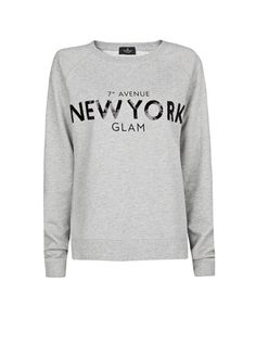 MANGO - NEW - Sweat-shirt coton sequins